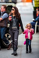 Bethenny Frankel and her daughter Bryn go out to Starbucks in Tribeca Featuring: Bethenny Frankel,Bryn Hoppy Where: New York City, New York, United St...