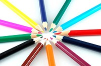 Some crayons isolated on a white backround.