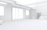 Defocused white home interior with furnishings