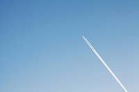 traces of the plane in the sky