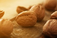Closeup image of walnuts on a background