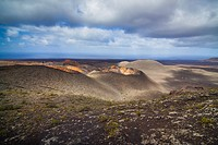 Mountains of fire, Timanfaya National Park in Lanzarote Island.