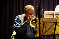 Kenny Wheeler, Watermill Jazz, Dorking, Surrey, 2009. Artist: Brian O'Connor
