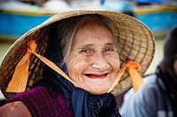 Portrait of an old woman, Hoi An, Vietnam.