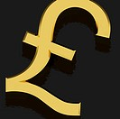 Gold Pound Sign As Symbol For Money Or Wealth
