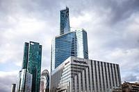 Skyscrapers of La Défense, Europe´s largest purpose-built business district, Paris, France.
