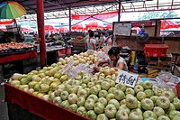 Fresh Produce Market, Hutong, Beijing, China.