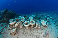plumbing on the shipwrecks in Ras Muhammad National Park, Sharm el-Sheikh, Red sea, Egypt, Africa.