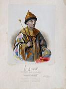 Portrait of the Tsar Feodor (Theodore) III Alexeevich of Russia (1661-1682). Artist: Borel, Pyotr Fyodorovich (1829-1898)