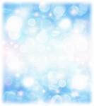 Abstract blue holiday background, beautiful shiny christmas lights, glowing magic bokeh