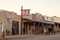USA, Arizona, Tombstone. The main street of the historical wild west town of Tombstone- home of the famous Gunfight at O. K. Corral. Credit as: Wendy ...