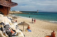 Playa Chica (literaly small beach), Tarifa, Andalucia, Spain.