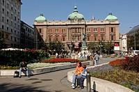 Beograd, city center, square Trg Republike, Serbia-Montenegro, Belgrade, - , Belgrade, Serbia-Montenegro, 01/01/2014