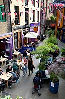 Covent Garden Restaurants and Cafes in Neals Yard.