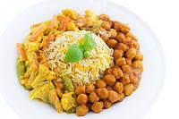 Vegetarian biryani rice or briyani rice, fresh cooked with steam, delicious indian food.
