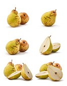 Set of six different composition of pear