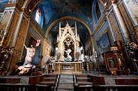 Main Altarpiece In The Santo Domingo Monastery & Church, Quito, Pichincha, Ecuador