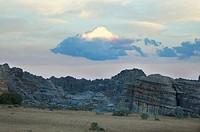 Eroded Jurassic Sandstone Massive Near La Fenetre Rock Formation, Isalo National Park, Fianarantsoa Province, Madagascar