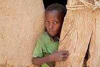 Boy in a Dogon home in Neni, Mali
