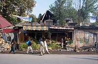 Produce Store In The Bazaar Damaged By The 8 October 2005 Earthquake, Muzaffarabad, Azad Kashmir, Pakistan