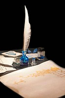 Ancient ink-writing set