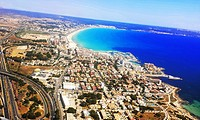 Aerial view of Las Palmas, Grand Canary, Canary Islands, Spain
