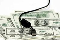 USB on Dollar bill concept