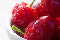 Macro shot of cherries