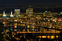 Bridges of Portland at Night