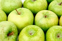 green apple background macro close up