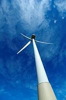 Wind turbines farm in spain