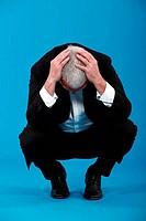 A depressed businessman.
