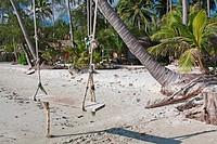 Swing at a beach