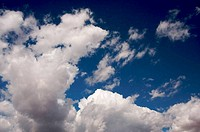 Dramatic Clouds and Deep Blue Sky