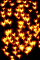 bokeh hearts background abstract macro