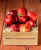 fresh ripe organic red apples