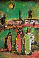Christ and His Disciples, Rouault, Georges (1871-1958) / Private Collection / Bridgeman Images