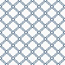Blue and White Decorative Design Textured Fabric Background