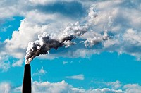 Chimney exhaust waste amount of CO2 into the atmosphere