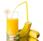 Fresh banana juice