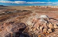 Badlands, Petrified Forest National Park, Arizona, USA, America.