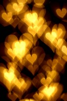 bokeh hearts background abstract macro