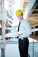 architect on construction site