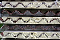 Roof tiles, building material