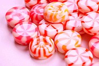 pink caramel candies