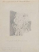 Drawing for the map of the moon, 1794 (pencil on paper), Russell, John (1745-1806) / Yale Center for British Art, Paul Mellon Collection, USA / Bridge...