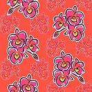 Illustration orchid flower pattern