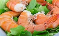 Fried Jumbo Shrimp with salad