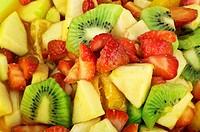 mixed fruits in a bowl close up shoot