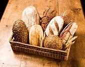 Various types of brown bread